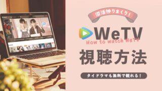 WeTVでタイや台湾ドラマを視聴する方法【VPN必須です】