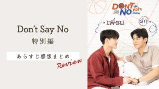 タイBL「Don't Say No」特別編の感想!肌色多めで可愛いの大洪水にオタク昇天【ネタバレあり】